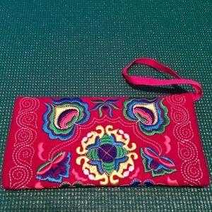 Handbags - Embroidered Wristlet